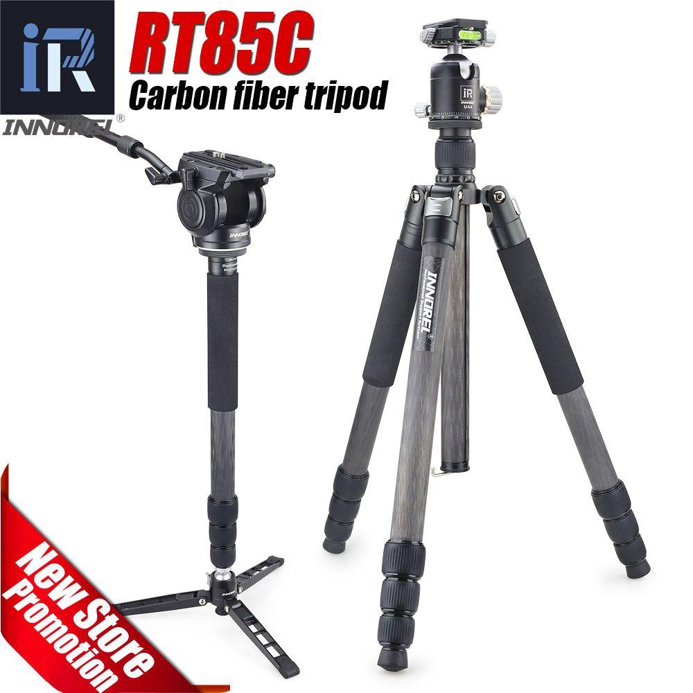 RT85C carbon fiber stativ für digitale DSLR kamera heavy duty Einbeinstativ Professionelle doppel panorama ball kopf 25 kg bär
