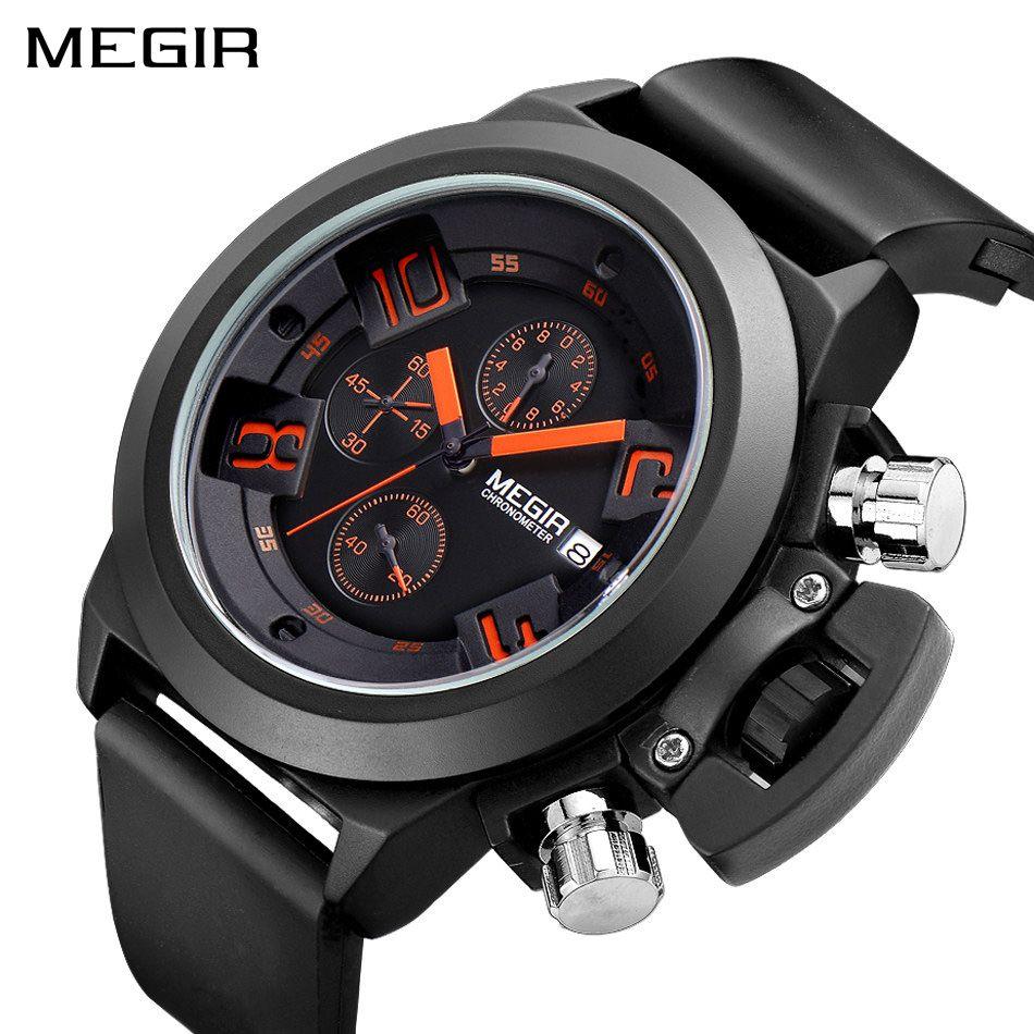 MEGIR Ursprüngliche Uhr Männer Sport Quarz Männer Uhren Chronograph Armbanduhr Relogio Zeit Stunde Uhr Reloj Hombre Herren Uhren