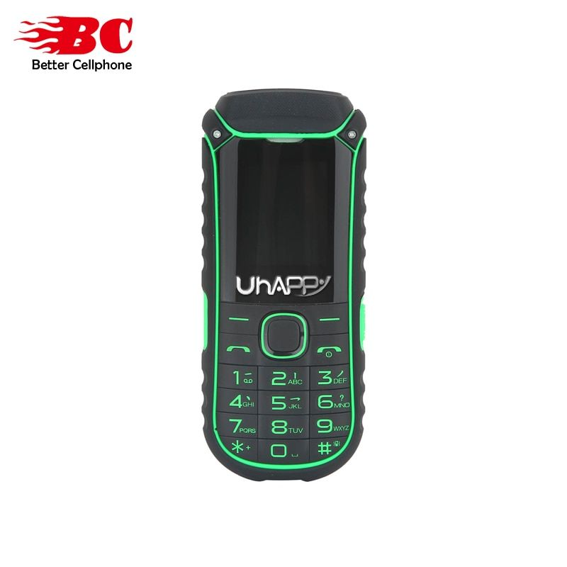 New UHAPPY A5000+ Russian Keyboard Flashlight Dual Sim Card 2G GSM 4400mAh Big Battery Long Standby Senior Older Mobile Phone