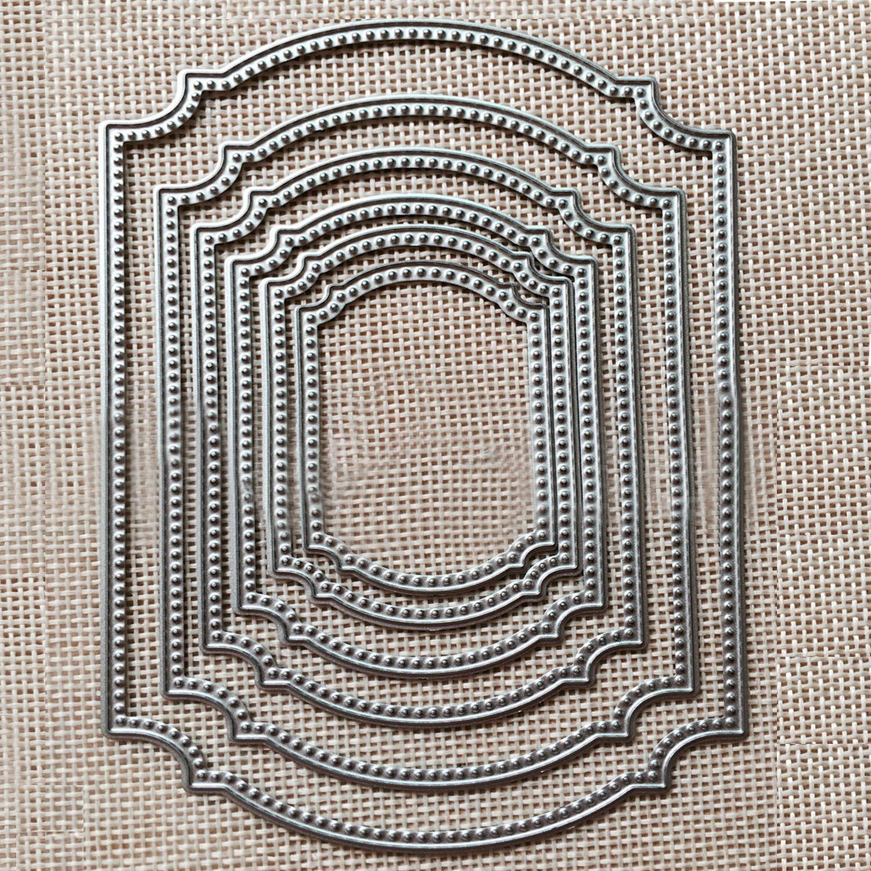 6 stücke Metall Carbon Stahl Fenster Rahmen Schneiden Gestanzte Stirbt Schablone Vorlage Form für DIY Sammelalbum Album Papier Karte scrapbooking