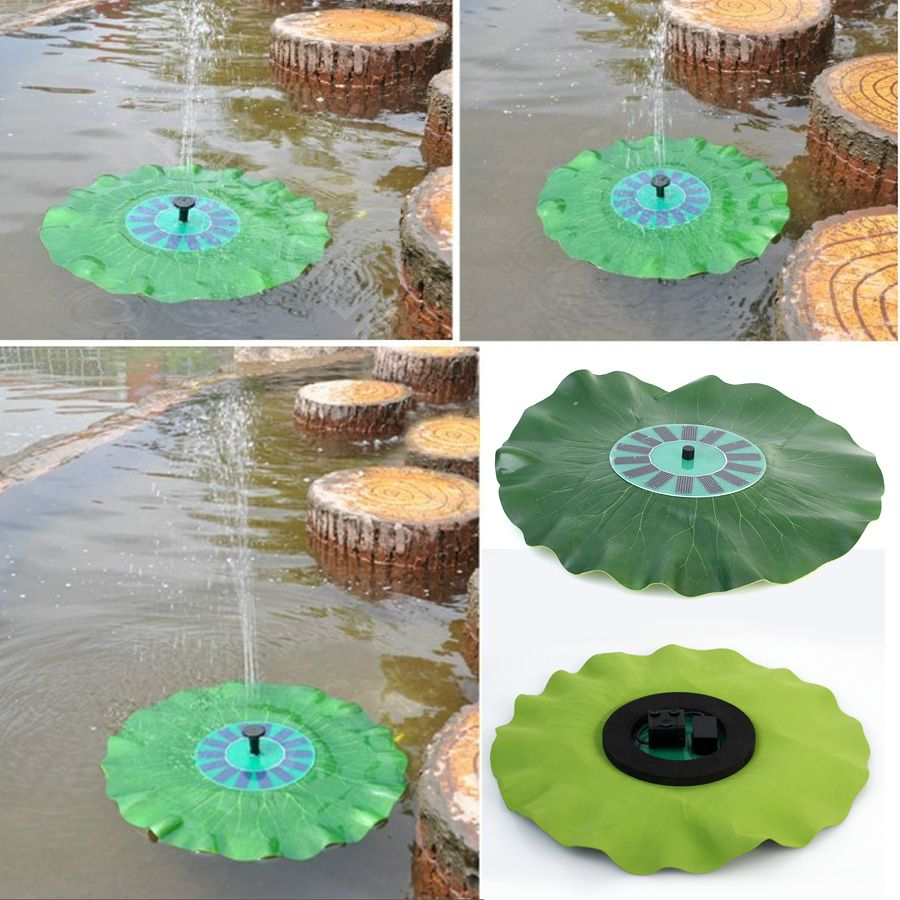 Big discount Floating Low Power Consumption Solar Fountain Pump Light for birdbath garden decoration free shipping