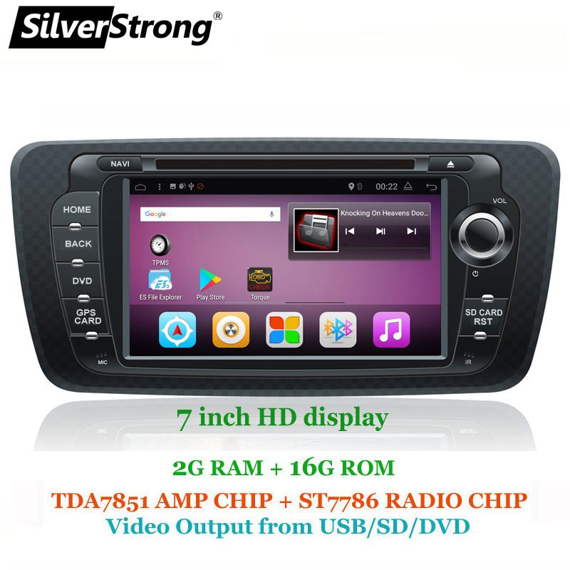 SilverStrong Android7.1 QuadCore 2G+16G Ibiza Car DVD for Seat Ibiza 7inch Android Radio Ibiza GPS with Mirroring link RDS