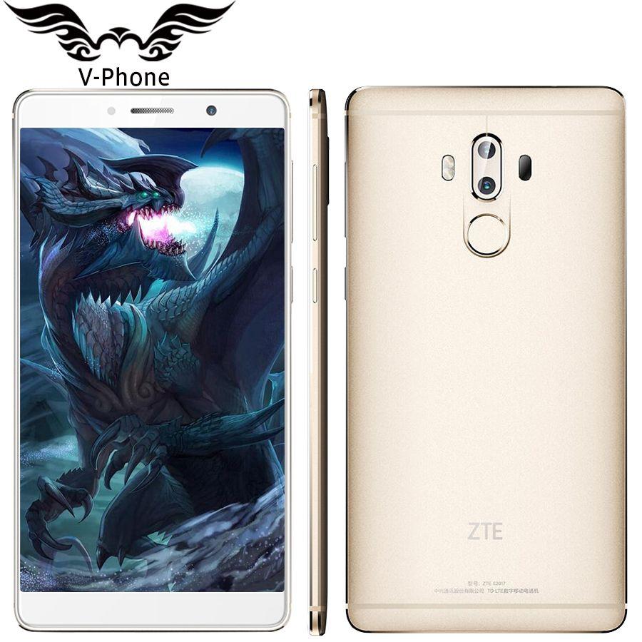 Оригинальный ZTE Axon 7 max 4 г LTE Hi-Fi Мобильный телефон Snapdragon 625 6.0