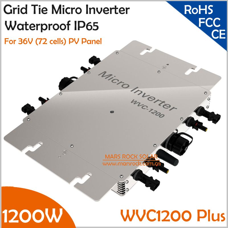 With 433/462MHz Wireless Communication Function Waterproof 1200W MPPT Grid Tie Micro Inverter, 22-50V DC to AC 110V or 220V