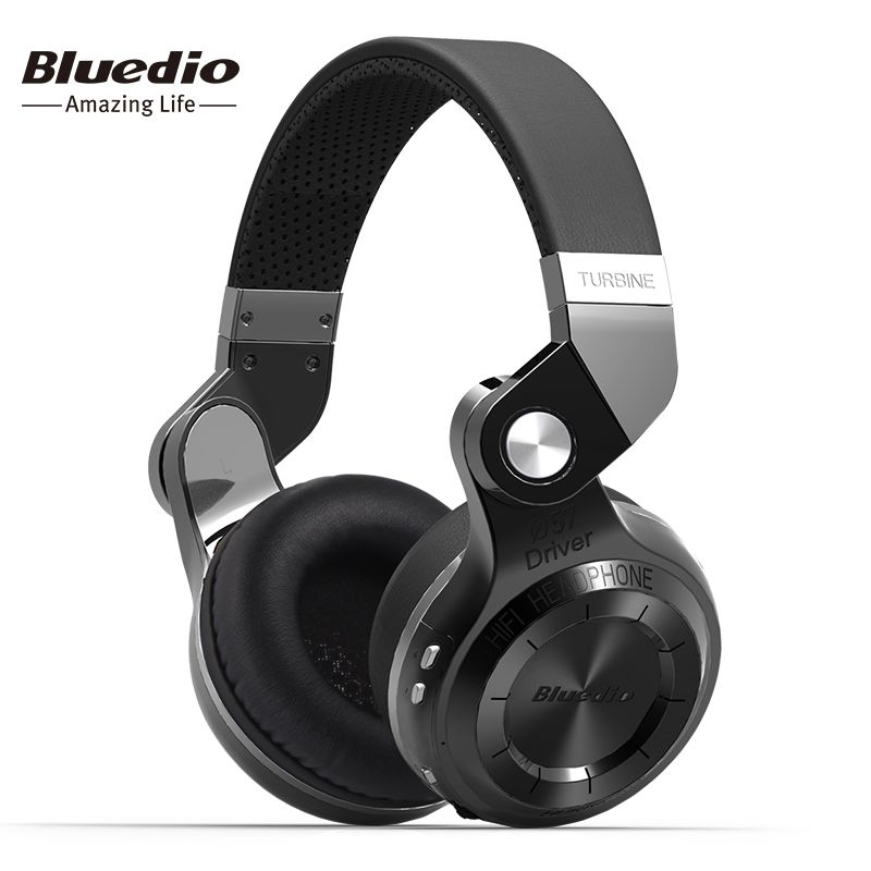 Bluedio T2S Bluetooth Wireless Headphone Foldable Headset With Bass And Built-in Microphone For Smartphone