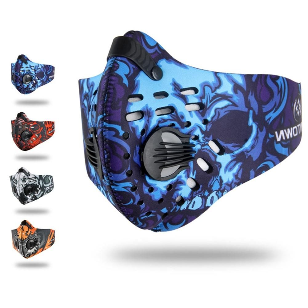 LumiParty Winter Carbon Cycling Face Mask Snowboard Dustproof Bike Training Mask Breathable Comfortable Bike Cycling Face Shield