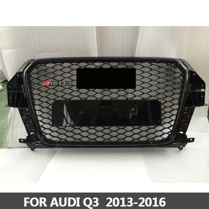 Grille RS3-Styling Q3 ABS Black Painted Front Honey Mesh Grille for Audi Q3 RS3 Sedan / Coupe / Convertible 2013-2016
