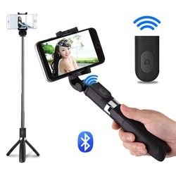 OTHA Selfie Stick Foldable Mini Tripod Wireless Bluetooth Extendable Monopod Tripod Shutter Remote Controller For iPhone/Android