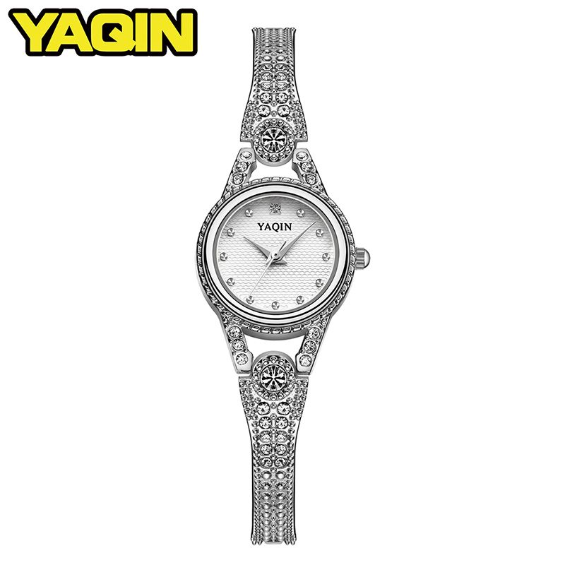 Watch women luxury brand YAQIN lady quartz watch fashion sports steel diving casual watch relogio feminino