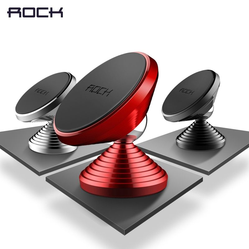 Magnétique Support de Téléphone Mobile, ROCK 360 Degrés Téléphone De Voiture Titulaire Stand pour iPhone 7 6 6 s Galaxy S8