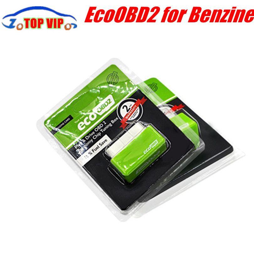 Meilleur Prix EcoOBD2 L'économie Puce Tuning Box OBD Voiture de Carburant Saver Eco OBD2 pour Benzine/Diesel Voitures D'économie de Carburant 15% Plug/lecteur