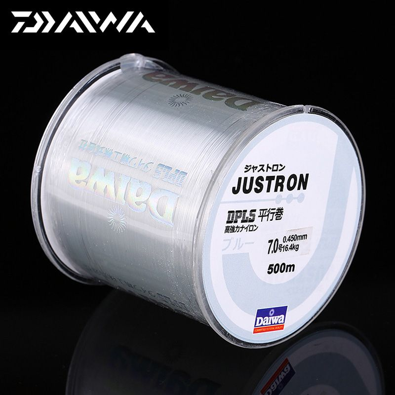 DAIWA 500 m Super Strong Daiwa Justron Nylon Ligne De Pêche 2LB-40LB 7 Couleurs Japon Monofilament Ligne Principale avec boîte en plastique