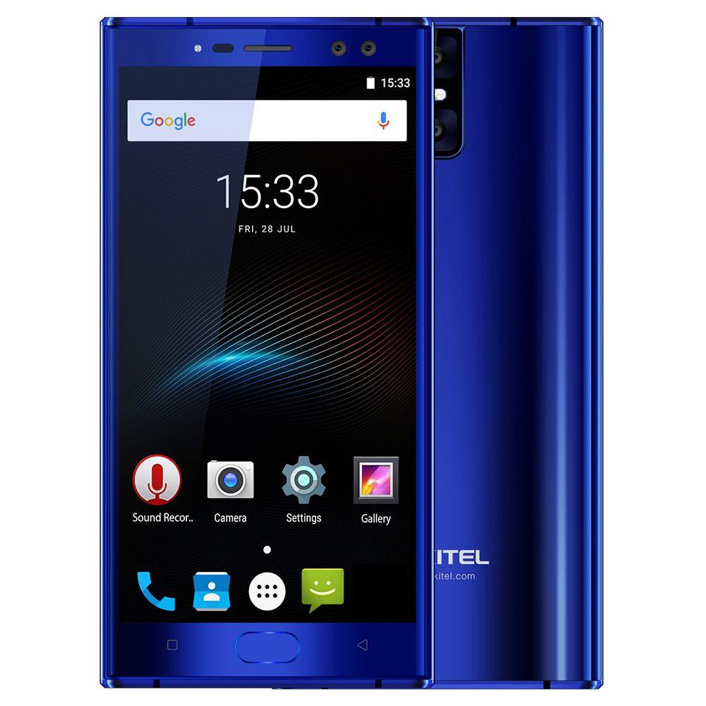 OUKITEL K3 4G Phone 5.5 inch Android 7.0 MTK6750T Octa Core 4GB RAM 64GB ROM 6000mAh Battery Four Cameras Fingerprint Scanner