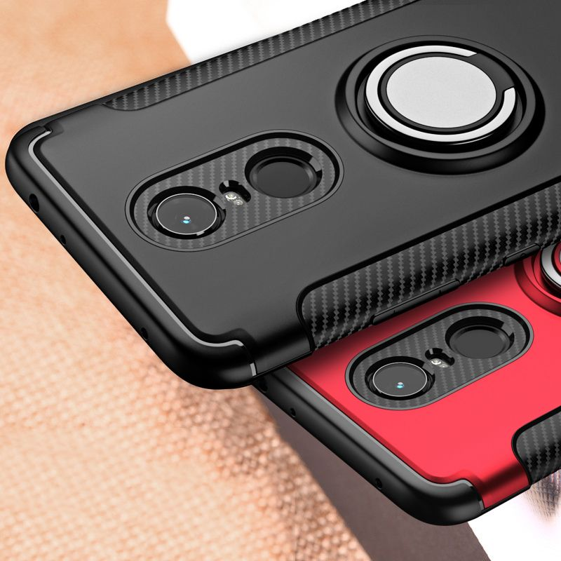 For Xiaomi Redmi 5 Plus Case Note 5 Pro Hybrid Silicone PC Rugged Armor Metal Finger Ring Holder Back Cover for Xiaomi Redmi5