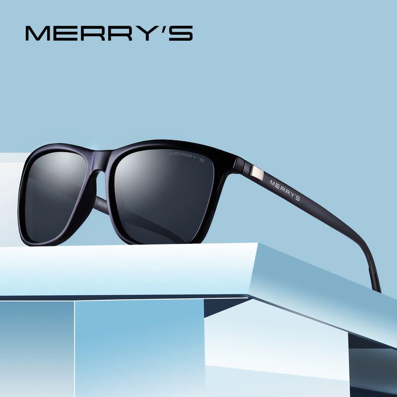 MERRYS unisexe rétro aluminium lunettes de soleil polarisées lentille Vintage lunettes de soleil pour hommes/femmes S8286