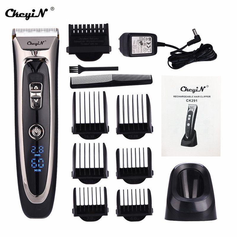 Tondeuse à cheveux numérique professionnelle tondeuse à cheveux électrique Rechargeable coupe de cheveux sans fil pour hommes lame en céramique réglable RFC-688B 49