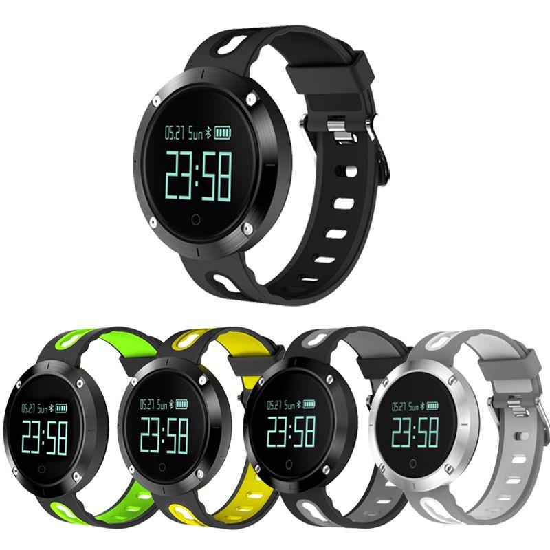 2018 DM-58 DM58 Fréquence Cardiaque Montre Smart Watch IP68 Étanche Sang Pression Fitness Sports Tracker Montre wathes pour IOS Android montre