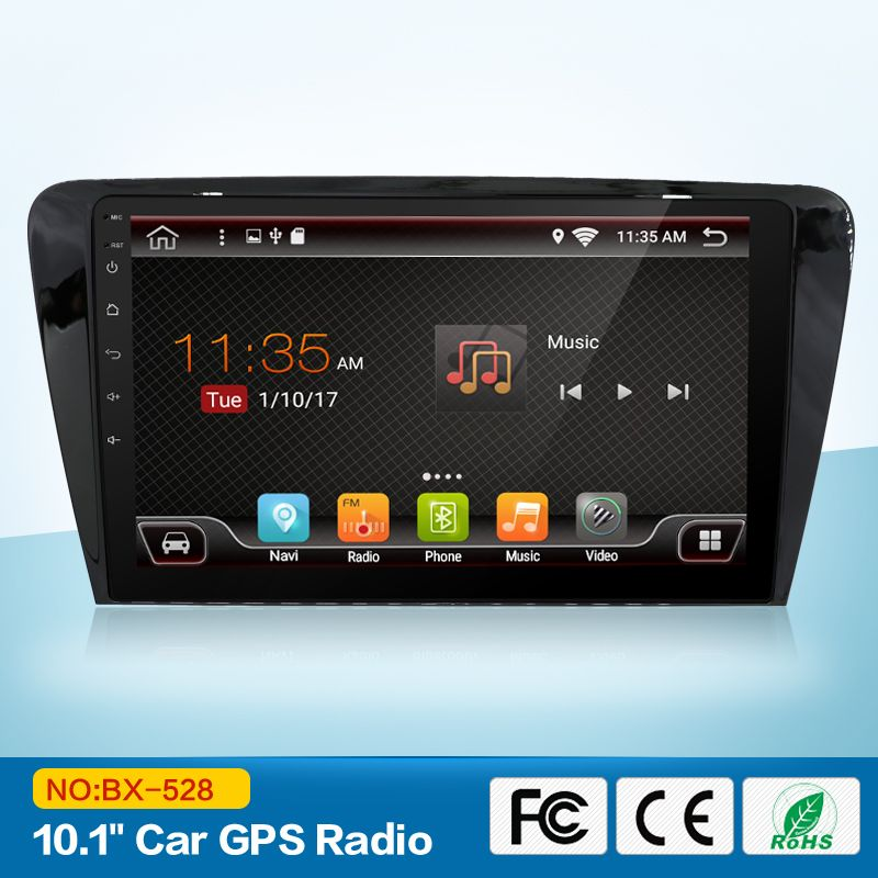 2 Din Car DVD GPS For Skoda Octavia 2014 A 5 A5 Yeti Fabia Pure Android 7.1 Quad Core CPU Stereo Radio Navigation Player