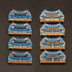 Hight Qualité 4 pcs/pack 5 + 1 Couches Hommes de Rasage Lames de Rasoir Compatible pour Gillettee Fusione Cassette Rasage
