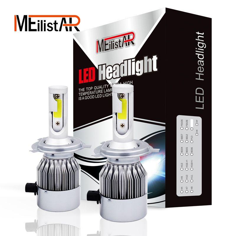 2pcs Car Headlights 72W 7600LM Led Light Bulbs H1 H3 H7 9005 9006 H11 H4 H13 9004 9007 Automobiles <font><b>Headlamp</b></font> 6000K Fog Lamps c6
