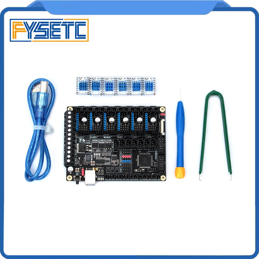 FYSETC F6 V1.3 Board ALL-in-one Electronics Solution With 6pcs Special TMC2130 V1.2 (opinion) For SPI Function Flying Wire