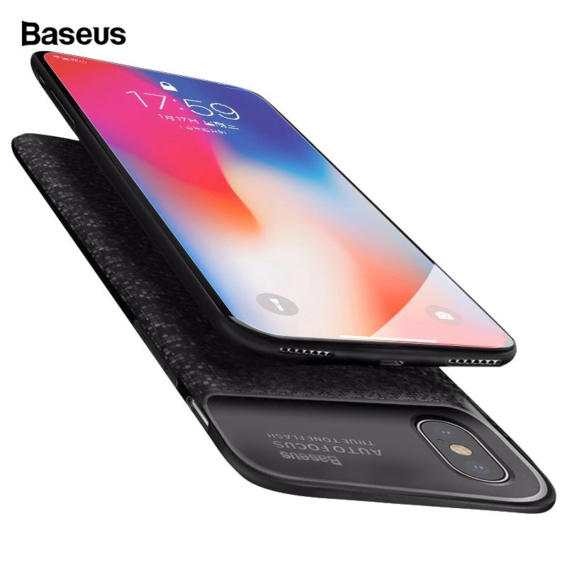 Baseus Battery Charger Case For iPhone X 10 Ultra Slim Power Bank External Backup Pack Charging Battery Cover For iPhoneX