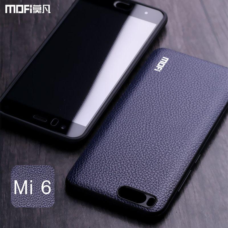 Mi6 case for Xiaomi mi6 case MOFi blue cover Mi 6 back cover PU leather soft retro vintage business brown case for xiaomi mi 6