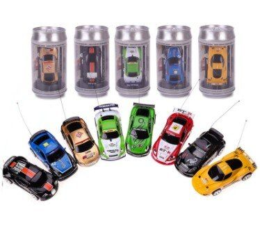 Coke Can Mini RC Car Hot Sale Radio Remote Control Micro Racing Car 4 Frequencies For Kids Presents Gift RC Models free shipping