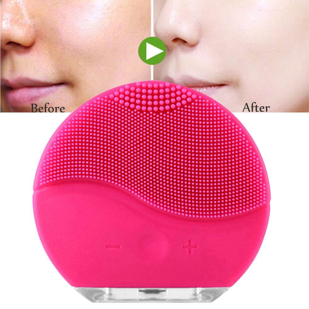 Soins de la peau électrique du visage brosse de nettoyage de massage de vibration étanche silicone brosse nettoyante pour visage visage treatmeat Soins de Beauté