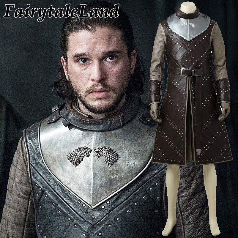 Game of Thrones Saison 7 Jon Schnee cosplay kostüm Karneval Halloween Kostüme erwachsene männer Nach maß Jon Schnee kostüm anzug