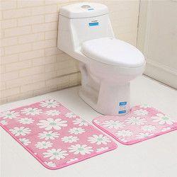2 шт. для ванной коврик для ванной комплект Нескользящие 45x50 см и 50x80 см/17.71x19.68in и 19.68x31.49in