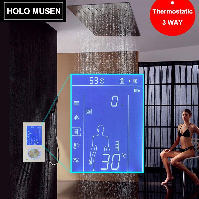 LCD Smart Touch Écran Numérique De Commande De Douche Thermostat De Douche Mélangeur Thermostatique De Douche Panneau Digitale Douche Thermostaat
