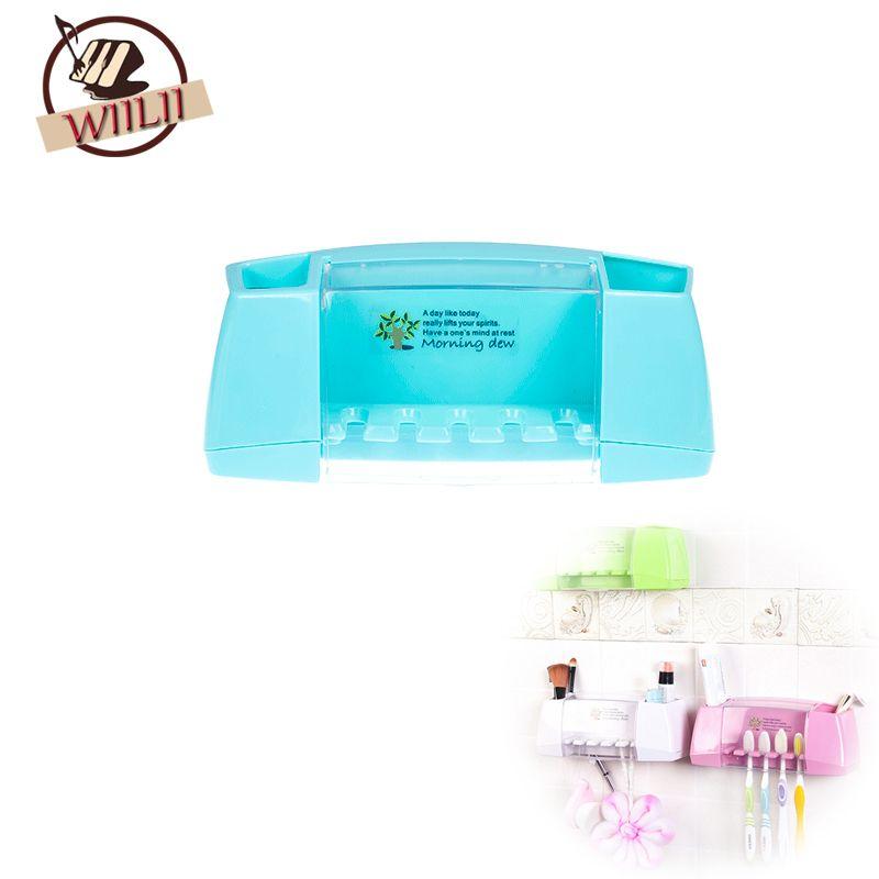 En plastique Brosse À Dents Titulaire Rack Maquillage De Stockage Wall Mount Support Salle De Bains Outil