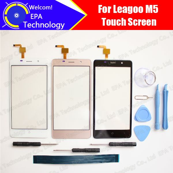 5.0 inch leagoo M5 Touch Screen Glass 100% Guarantee Original New Glass Panel Touch Screen For M5 + tools + Adhesive
