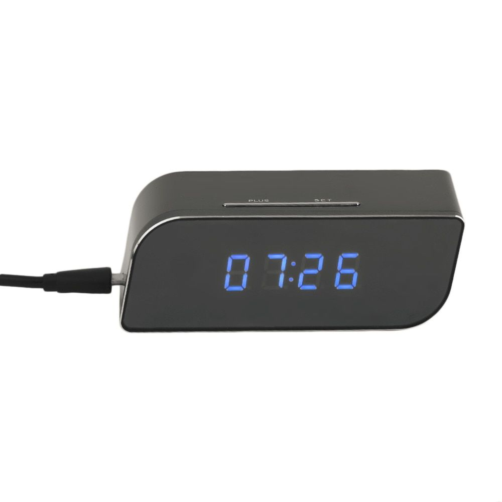 1280*720P HD Wireless Network Electronic Clock WIFI 360 Degree Camera Monitor Night Vision For Home Remotely Surveilance 32GB TF
