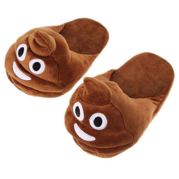 Children Casual Shoes Cotton Cute Shits Poop Stuffed Warm Slippers in Home Winter Indoor Shoes for Kids Children -17 BM8