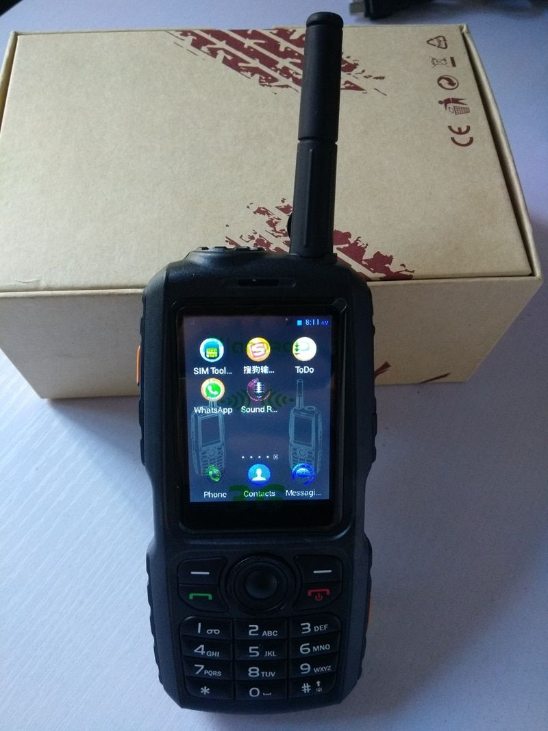 3G WCDMA SIM walkie talkie with UHF 400-470mhz analog function GSM zello account two way radio