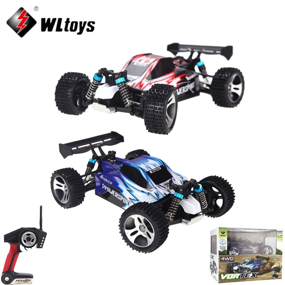 RC Car A959 1/18 1:18 Scale 2.4G 4WD RTR Off-Road Buggy Remote Control Car with Transmitter Toys for Children
