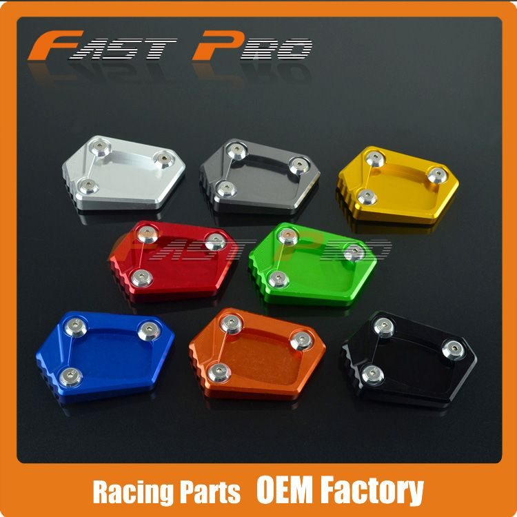 CNC Kickstand Side Stand Plate Pad Enlarger Extension for Honda CBR500R CB500F CB500X CB500 NC700 NC700S NC700X NC700D Integra