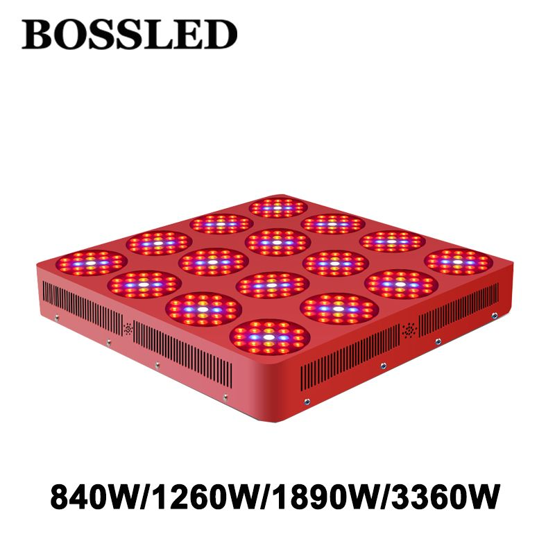 BOSSLED Goldenring Serie 840W/1260W/1890W/3360W Led grow light Full Spectrum for indoor plants grow wide coverage led grow light