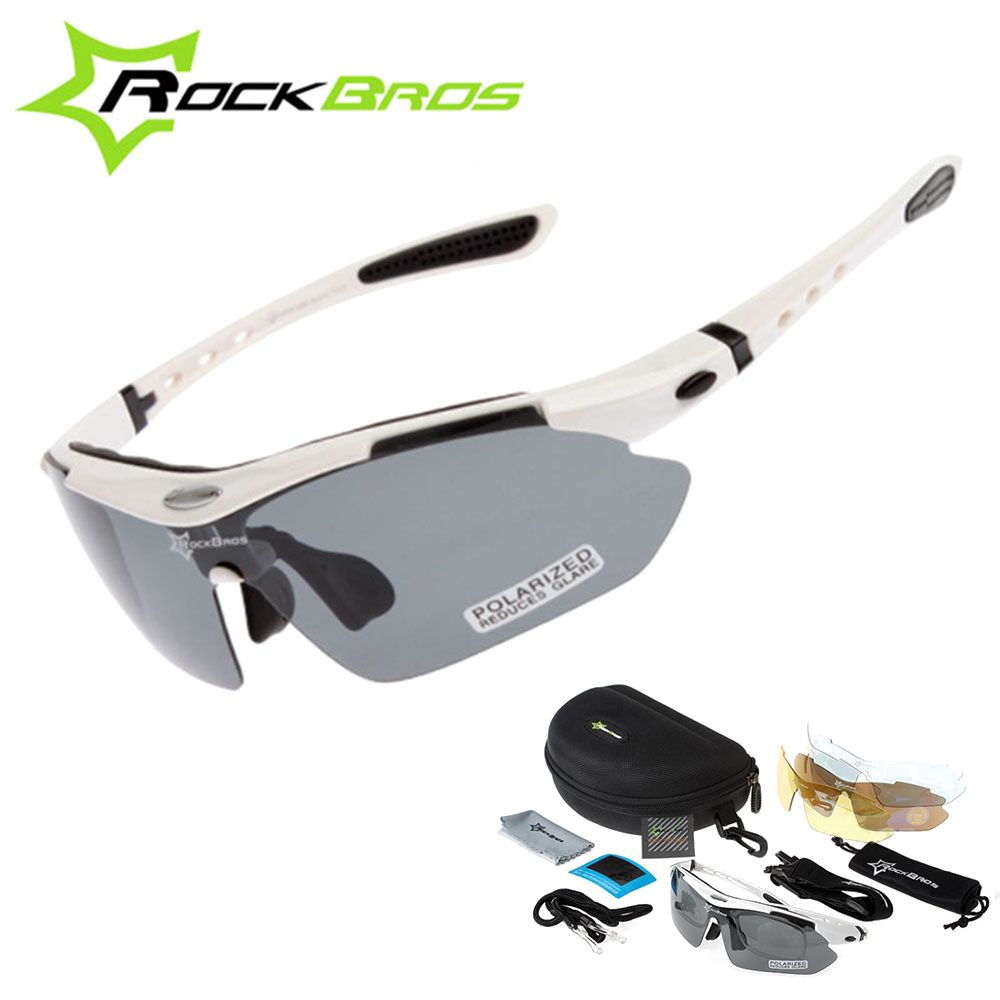 Hot! <font><b>RockBros</b></font> Polarized Cycling Sun Glasses Outdoor Sports Bicycle clismo Road Bike MTB Sunglasses TR90 Goggles Eyewear 5 Lens