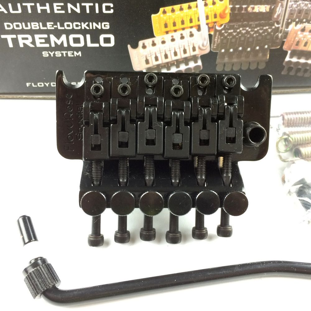 ARM Floyd Rose <font><b>Special</b></font> Series Electric Guitar Locking Tremolo System Bridge FRTS2000 Black ( Without packaging )