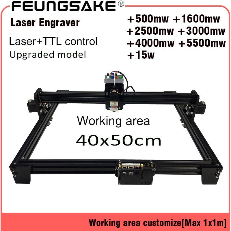 4050 15 w laser maschine PMW control TTL, cnc 7 w laser carving maschine 5500 mw Laser, 2500 mw Laser Gravur Maschine, 4050 arbeit Bereich