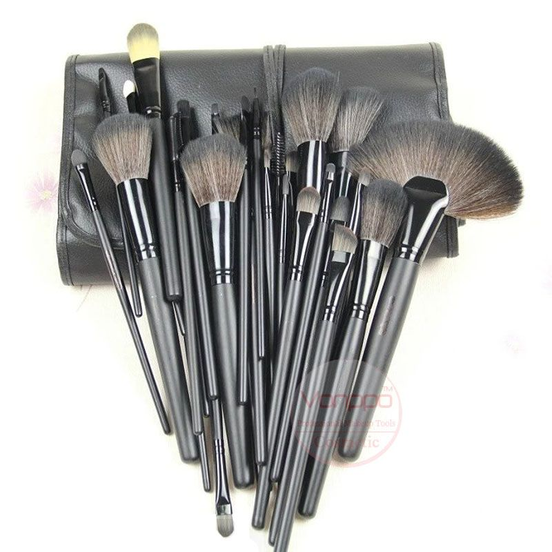 New Professional 24Pcs Makeup Brushes Kit Cosmetic Makeup Brushes Set with Black Case