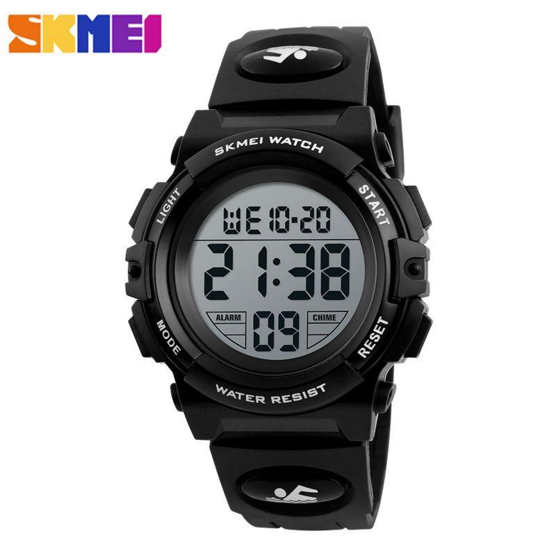 Skmei marca niños reloj niños al aire libre Relojes deportivos Niños 50 m impermeable pantalla LED pulsera digital relojes Relogio relojes 1266