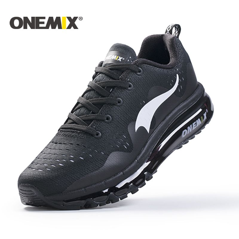 onemix New 2018 Air Sports Running Shoes woman cushioning breathable Massage Sneakers for men sport shoes athletic outdoor men
