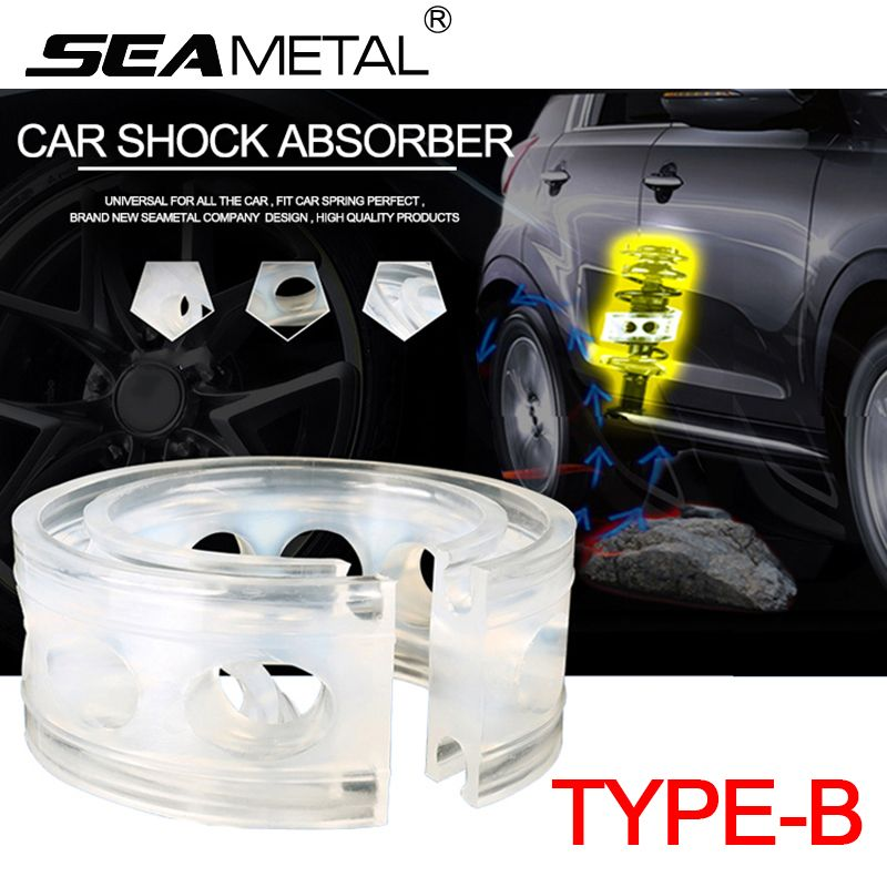 Car Shock Absorber Spring Bumper Power B Type Cushion Buffer Auto Springs Auto-buffer Bumpers Universal For The Car In 2Pcs Man