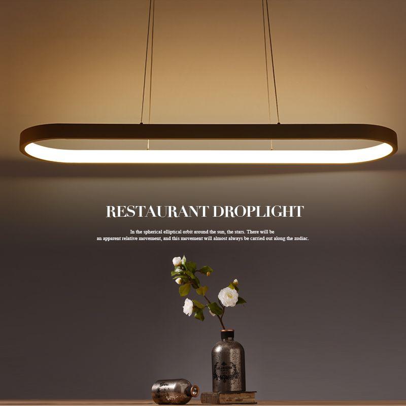 Neue Kreative moderne LED anhänger lichter Küche acryl + metall suspension hängen decke lampe für esszimmer lamparas colgantes