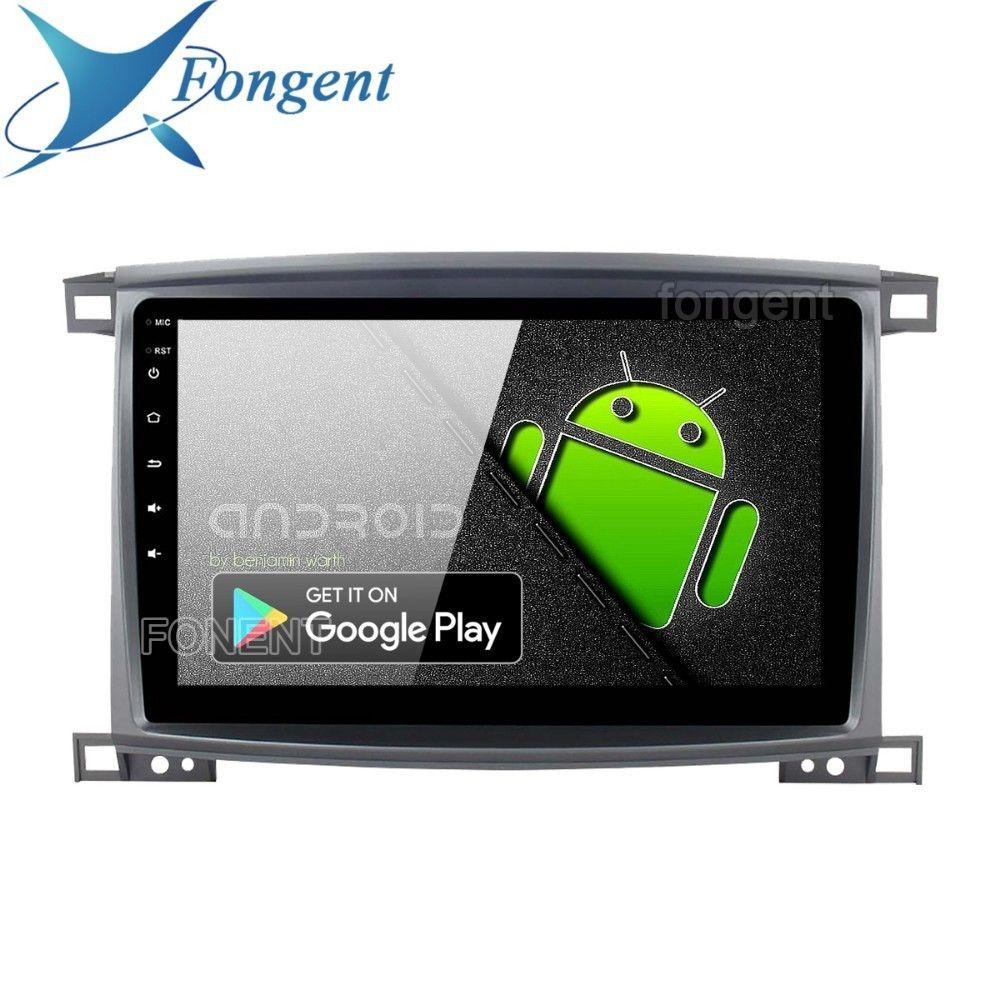 Fongent Radio 1 Din Android 9.0 Auto Stereo für Toyota LC 100 Land Cruiser 100 2003 GPS Navigation Bluetooth 64 GB ROM