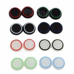 1 Set 2 PC Thumbstick Cap Penutup Analog 360 Controller Jempol Tongkat Pegangan untuk PS4 Xbox One